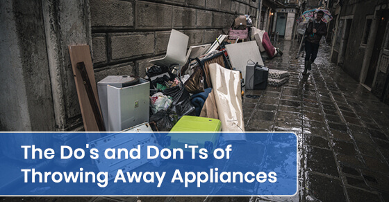 What we need to know about throwing away appliances