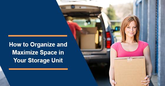 Storage unit organization tips