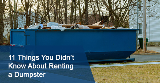 Things You Didn't Know About Dumpster Rental